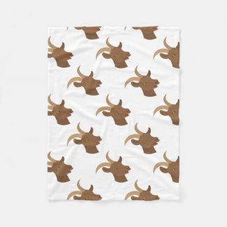 Cobertor De Velo cara bonito masculina da cabra