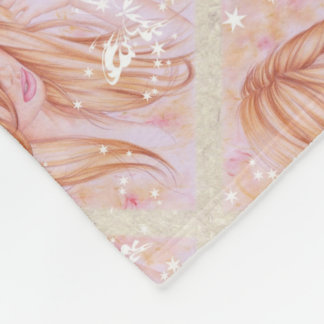 Cobertor De Velo Cara fêmea com motivo da borboleta