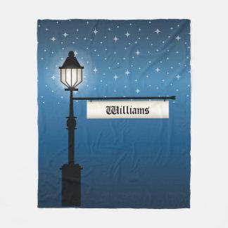 Cobertor De Velo Cargo antigo da lâmpada na noite com nome de