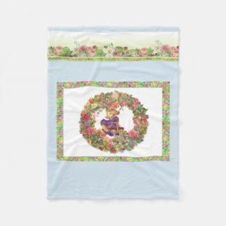 Cobertor De Velo Carregamento ilustrado do urso floral
