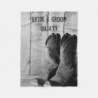 Cobertor De Velo Casamento ocidental rústico das botas de vaqueiro