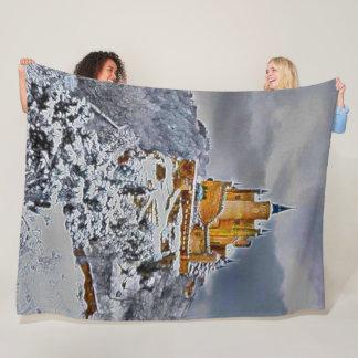 Cobertor De Velo Castelo do Alcazar, Segovia, arte do acrílico da