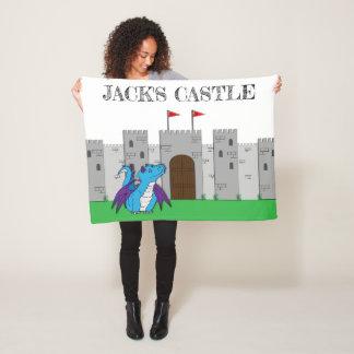 Cobertor De Velo Castelo e dragão