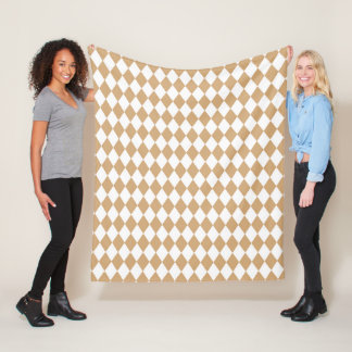 Cobertor De Velo Castelo-Harlequin-Tan-Clássico-Velo-Lg