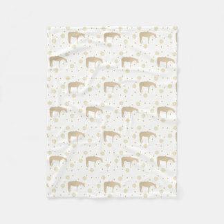 Cobertor De Velo Cavalo ocidental branco do ouro do pergaminho do