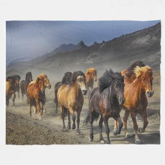 Cobertor De Velo Cavalos selvagens