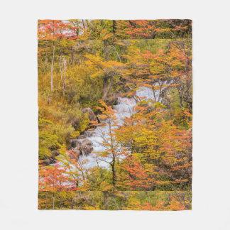 Cobertor De Velo Cena colorida da paisagem da floresta, Patagonia