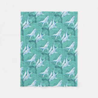 Cobertor De Velo Cerceta da família das baleias azuis