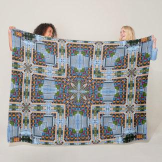 Cobertor De Velo Cetim de 8 bits decorativo do vitral da terra da