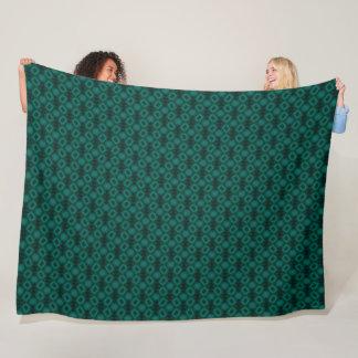 Cobertor De Velo Cetim estrangeiro verde do teste padrão da hélice