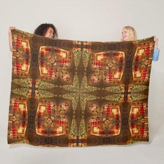 Cobertor De Velo Cetim mágico do teste padrão da mandala dos