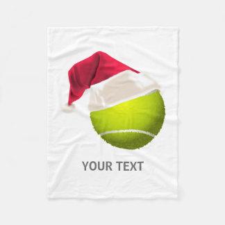 Cobertor De Velo Chapéu do papai noel da bola de tênis do Natal