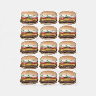 Cobertor De Velo cheeseburger delicioso com fotografia das