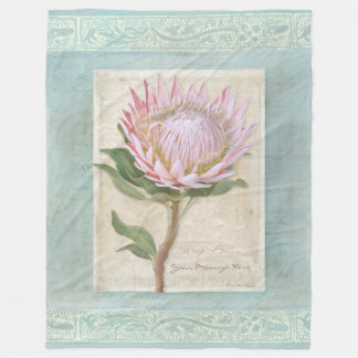 Cobertor De Velo Chique moderno elegante floral do vintage do rei