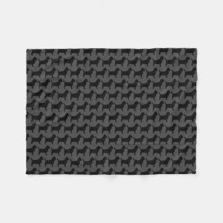 Cobertor De Velo Cinza do teste padrão das silhuetas de Terrier de