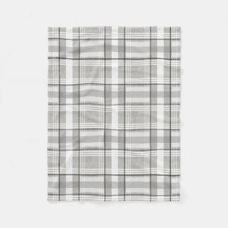 Cobertor De Velo Cinzas, branco, & cobertura do velo da xadrez do
