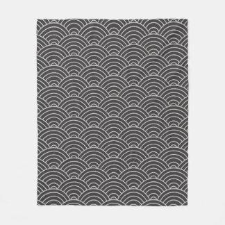 Cobertor De Velo Cinzas de carvão vegetal do teste padrão de onda e