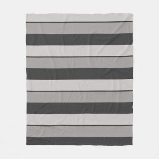 Cobertor De Velo Cinzas de carvão vegetal e Taupe Multi-Listrados