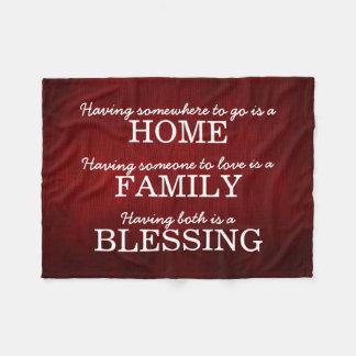 Cobertor De Velo Citações inspiradores da família da tipografia