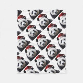 Cobertor De Velo Clipped-Panda-Santa-2