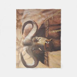 Cobertor De Velo Cobertura africana do velo do búfalo