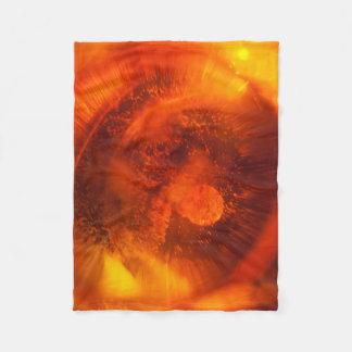 Cobertor De Velo Cobertura alaranjada abstrata