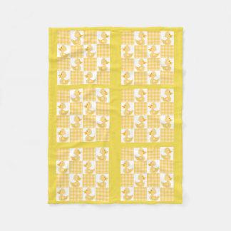 Cobertor De Velo Cobertura amarela do velo do design de Duckies da