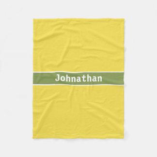 Cobertor De Velo Cobertura amarela e verde conhecida feita sob