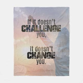 Cobertor De Velo Cobertura atlética das citações do desafio