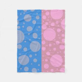 Cobertor De Velo Cobertura azul cor-de-rosa do velo do ponto dos