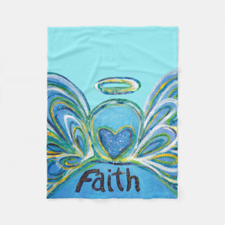 Cobertor De Velo Cobertura azul de Chemo do anjo-da-guarda da fé
