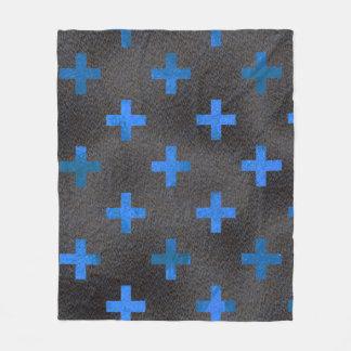 Cobertor De Velo Cobertura azul do teste padrão da cruz do cromo