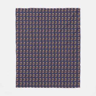 Cobertor De Velo Cobertura azul do velo da rena