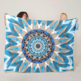 Cobertor De Velo Cobertura azul do velo do caleidoscópio