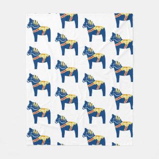 Cobertor De Velo Cobertura azul do velo do cavalo de Dala