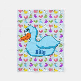 Cobertor De Velo Cobertura azul do velo do pato