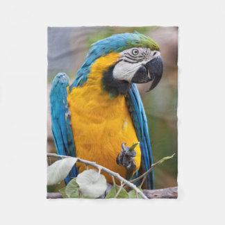 Cobertor De Velo Cobertura azul e amarela de Sherpa do Macaw