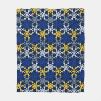 Cobertor De Velo Cobertura azul e amarela do velo das letras