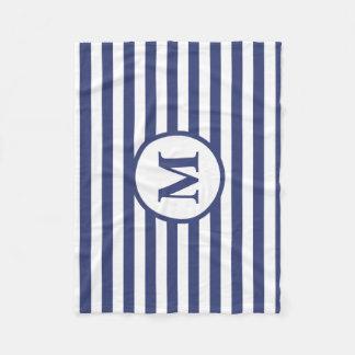 Cobertor De Velo Cobertura azul e branca do monograma feito sob
