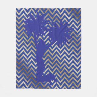 Cobertor De Velo Cobertura azul G do velo de Chevron do cheerleader