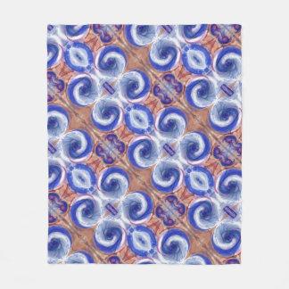 Cobertor De Velo Cobertura azul requintado do velo do design das