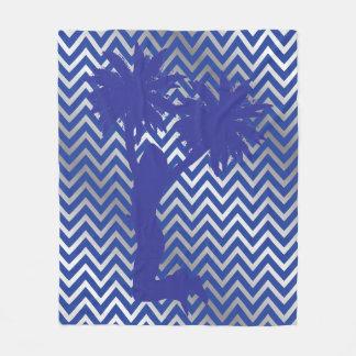Cobertor De Velo Cobertura azul S do velo de Chevron do cheerleader