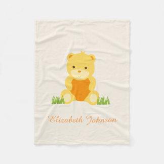 Cobertor De Velo Cobertura bonito do bebê do velo do ursinho do