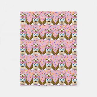 Cobertor De Velo Cobertura bonito do velo do cão