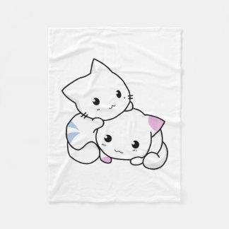 Cobertor De Velo Cobertura bonito do velo do gatinho