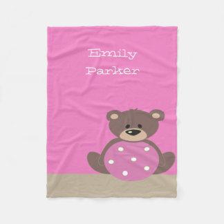 Cobertor De Velo Cobertura bonito do velo do urso de ursinho