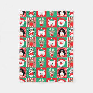 Cobertor De Velo Cobertura bonito dos caráteres do Natal do Xmas