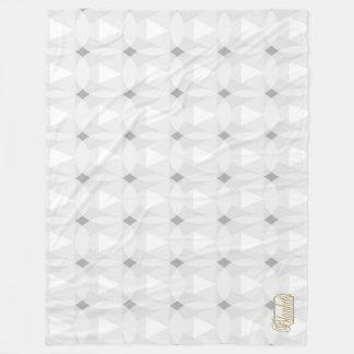 Cobertor De Velo Cobertura branca do velo do círculo do diamante