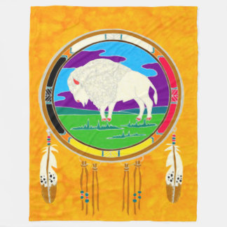 Cobertor De Velo Cobertura branca do velo do nativo americano do