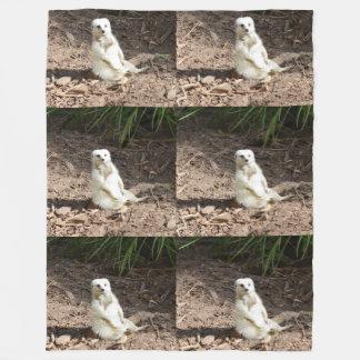 Cobertor De Velo Cobertura branca insolente do velo de Meerkat